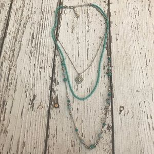 American Eagle Triple Layered Turquoise Beaded